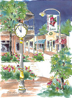 143 - Town Clock 2000 Christmas Card