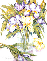 103 - Vertical Iris in Vase